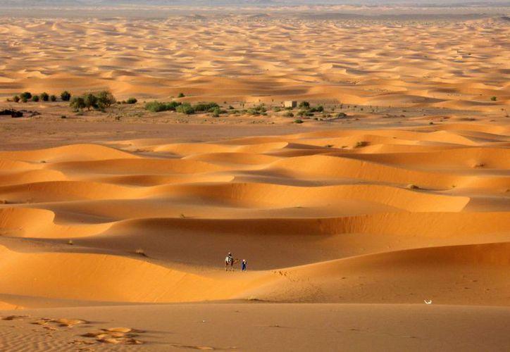 Vista del desierto marroquí en Erg Chebbi, al borde del Sahara. (Agencias)