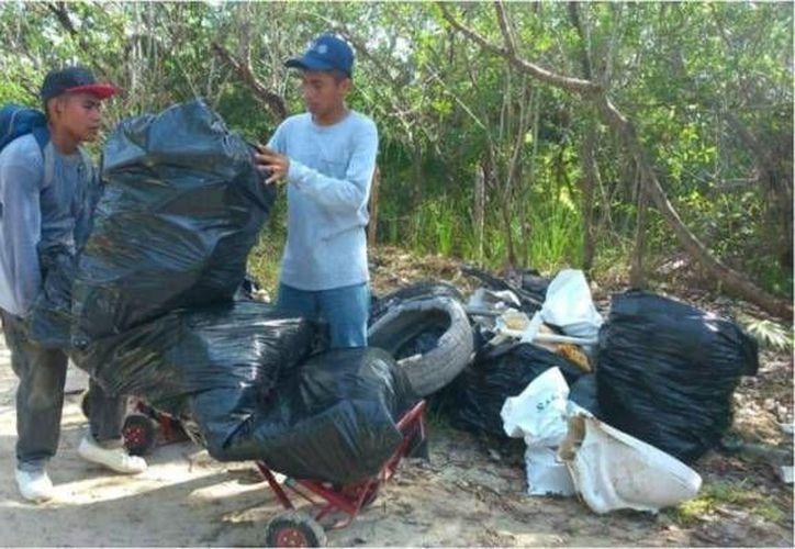 El 60 por ciento eran productos de plásticos, 30 de vidrio y 10 por ciento de otro tipo de desechos. (Redacción/SIPSE)