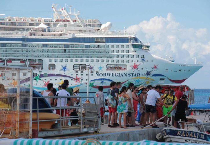 """El muelle que más barcos recibirá a lo largo de la semana próxima es """"Puerta Maya"""". (Gustavo Villegas/SIPSE)"""