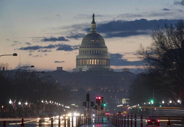 Donald Trump rendirá protesta como Presidente de EU el próximo viernes ante la fachada oeste del Capitolio. (AP/J. Scott Applewhite)