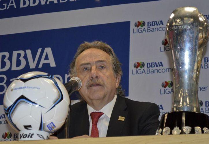 Decio de María: las declaraciones de Ferretti están fuera del marco que acordamos los 18 equipos que conforman la Liga MX. (Notimex)