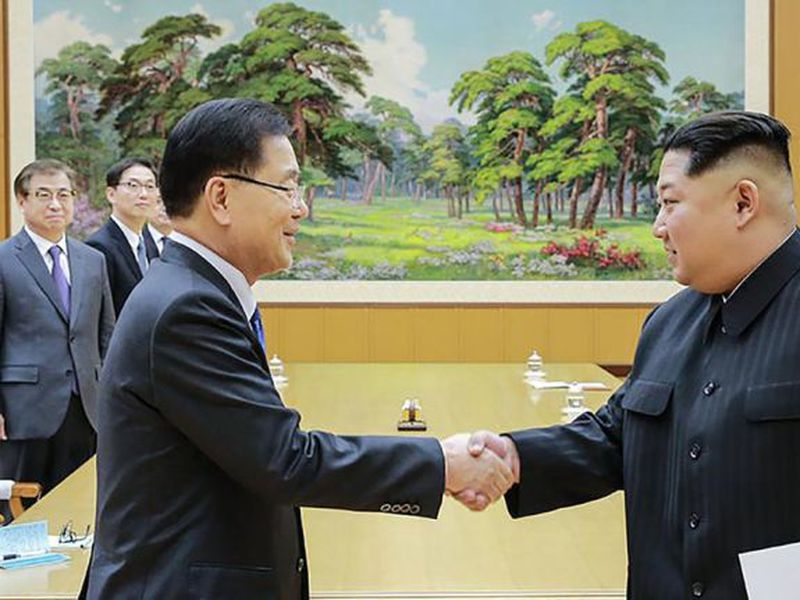 The announcements came days before North Korean leader Kim Jong Un is set to meet South Korean President Moon Jae-in. (AP)