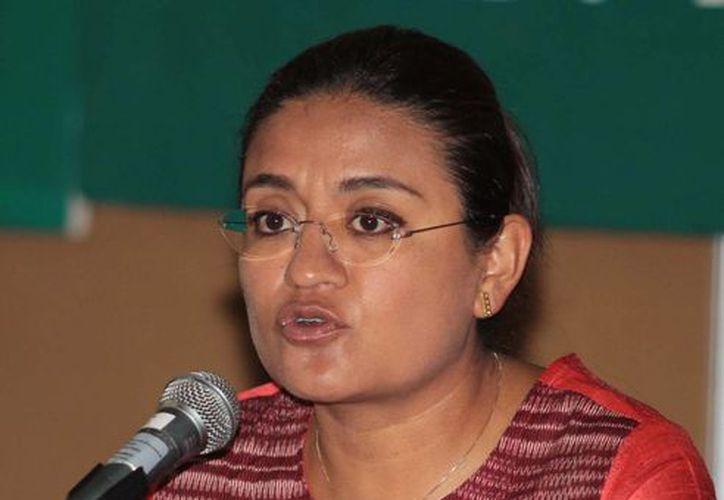 Aleida Alavez, diputada del PRD, dijo que no la Mesa Directiva no puede recibir un documento que a todas luces es ilegal. (Archivo/Notimex)