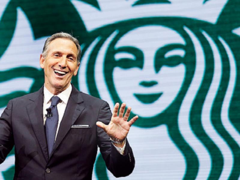 Howard Schultz speaks at the Starbucks annual shareholders meeting in Seattle. (AP)