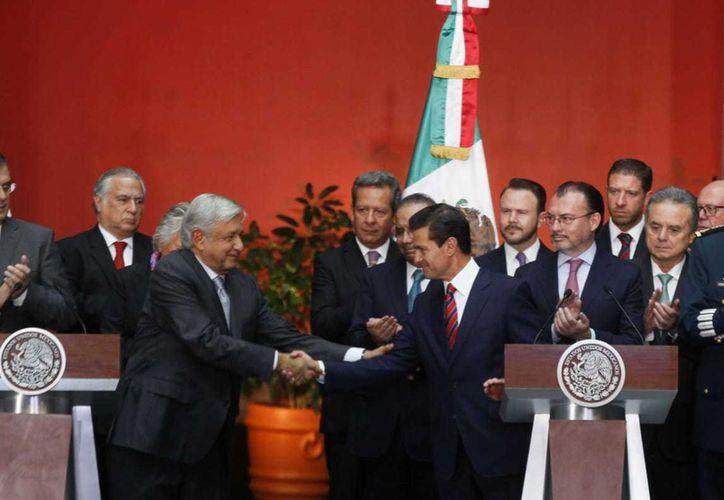 Andrés Manuel López Obrador y Enrique Peña Nieto sostuvieron hoy una reunión de gabinetes. (Milenio.com)