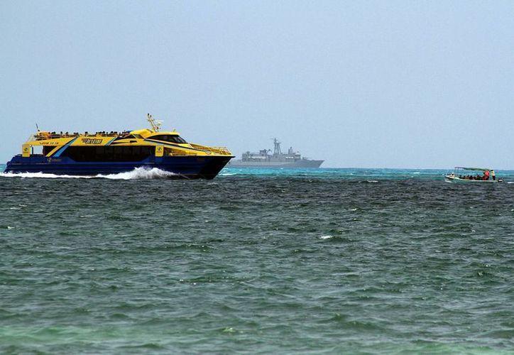 El 24 de abril se registró un accidente entre un barco de pasajeros de Ultramar y una embarcación menor. (Sergio Orozco/SIPSE)