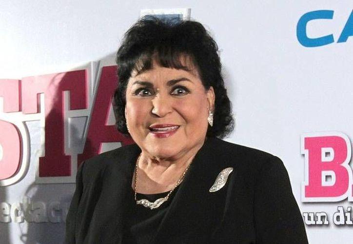 La actriz Carmen Salinas forma parte de la lista de candidatos del PRI a diputados por la vía plurinominal. (Notimex)