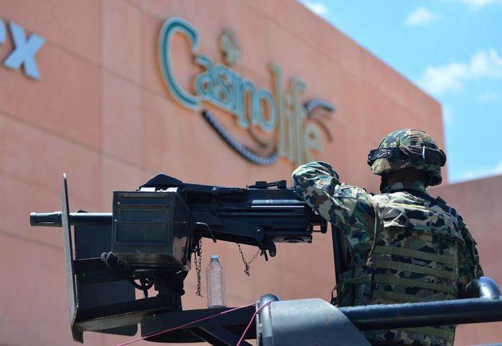 El operativo abarcó varios casinos de Mérida. (Luis Pérez/SIPSE)