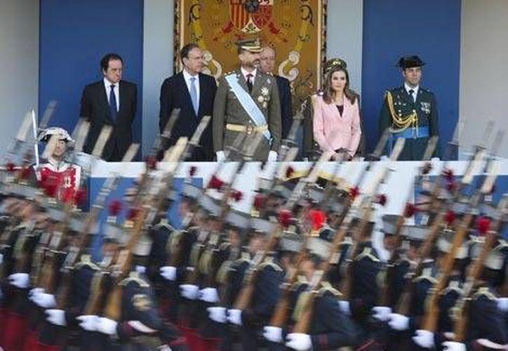 Mariano Rajoy representó al Estado porque la ley impide al Príncipe ocupar el puesto de su padre en las funciones de gobierno. (Milenio)