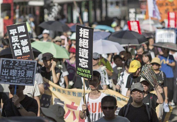 La matanza de Tiananmen sigue siendo un tema tabú en Chinaú. (EFE)