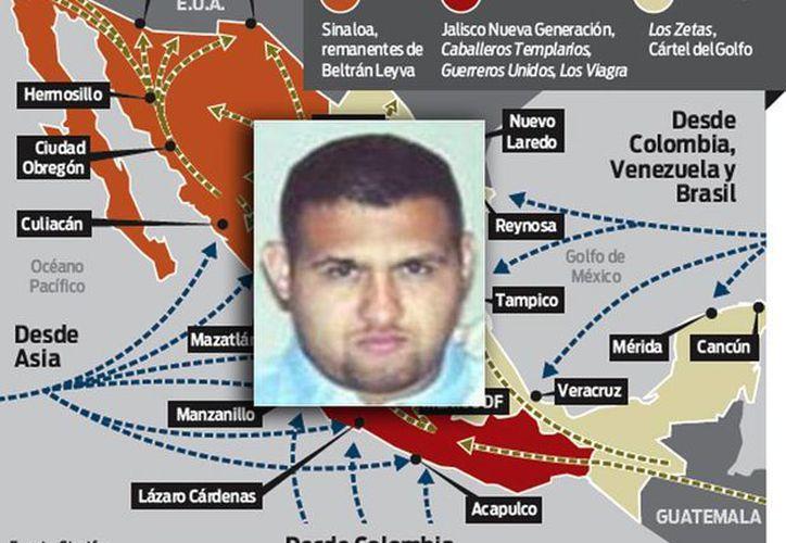 El líder de Los Zetas, Omar Treviño Morales, alias 'Z42', fue detenido este miércoles en Monterrey. El grupo delictivo es uno de los carteles mexicanos que operan en el país. (Fotocomposición con infografía de Excélsior e imagen de MILENIO)