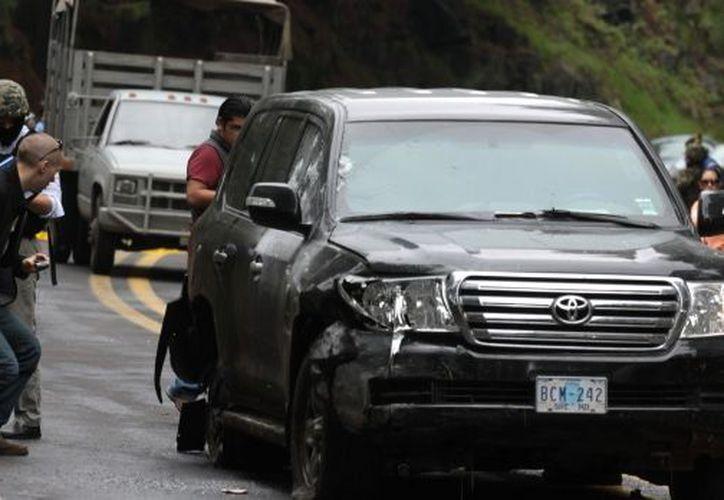 La camioneta blindada en la que viajaban los diplomáticos de EU recibió más de 100 impactos de bala. (Archivo Notimex)