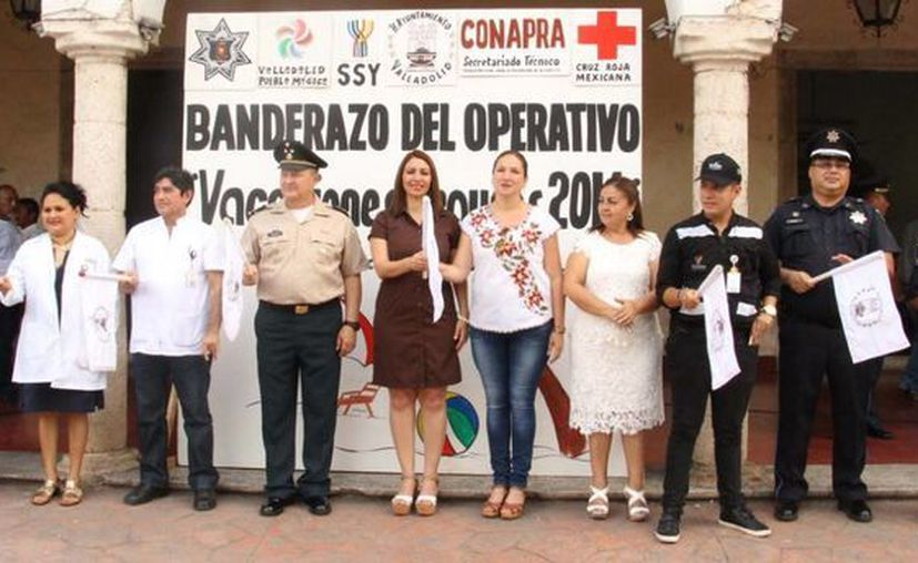 La alcaldesa vallisoletana Alpha Tavera encabezó el inicio del operativo 'Vacaciones seguras'.
