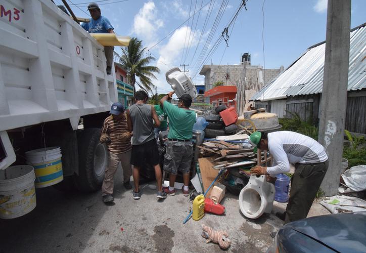 La campaña ha tenido muy buena respuesta de parte de los habitantes de las diferentes colonias. (Gustavo Villegas/SIPSE)