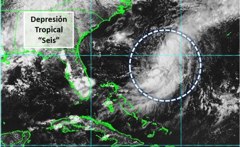 El fenómeno se localiza a unos mil 883 kilómetros al noreste de Yucatán. (Novedades Yucatán)