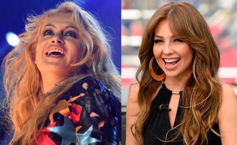 Paulina Rubio y Thalía estarán juntas en el mismo escenario, en un evento de radio. (Contexto/Internet)
