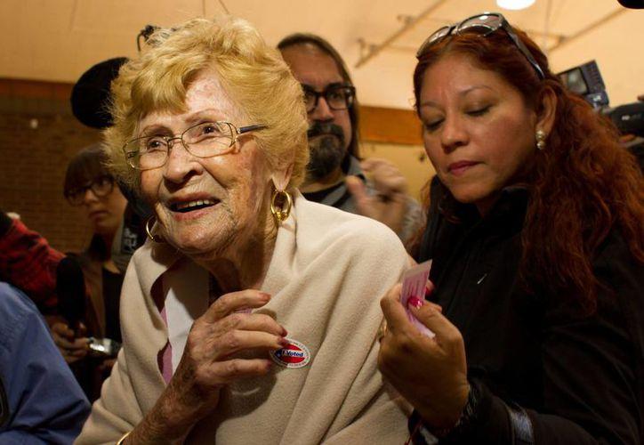 Guadalupe Portillo, jalisciense de nacimiento, aseguró que espera votar en más elecciones en Estados Unidos. (EFE)