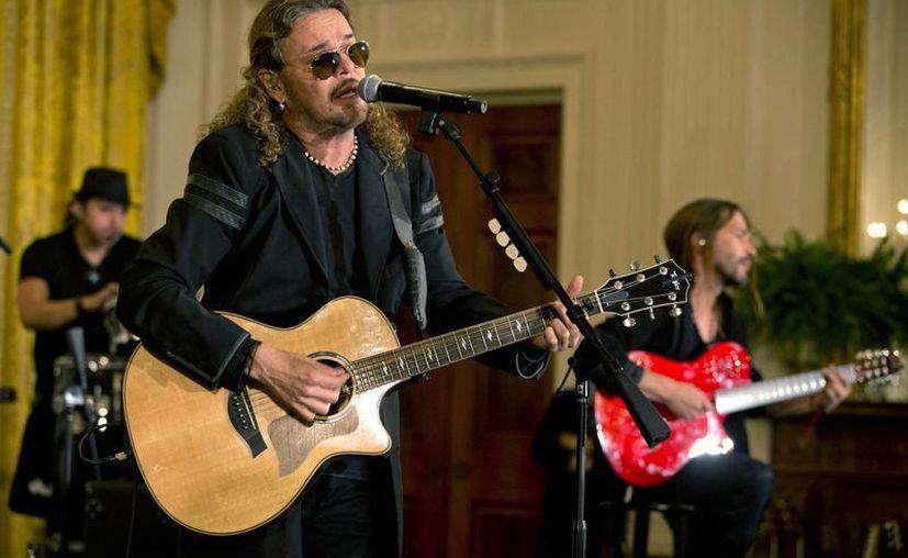 La banda mexicana Maná ofreció un concierto en la Casa Blanca, esto como un homenaje a la contribución de los inmigrantes hispanos a diversos aspectos de la cultura estadounidense. (AP)