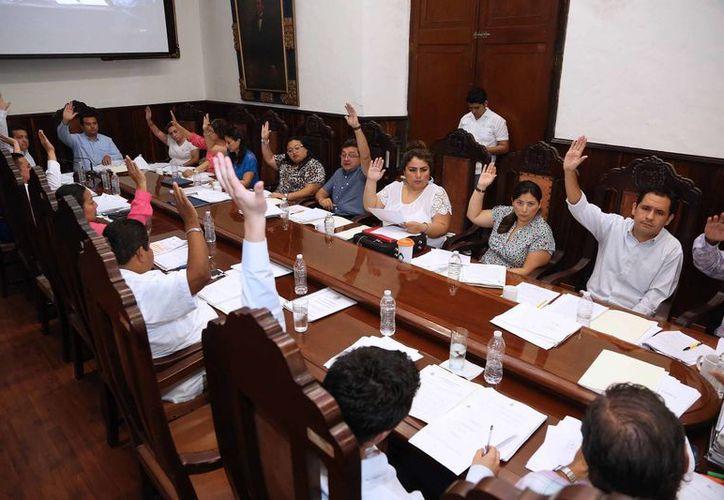Sesión del Cabildo de Mérida celebrada la mañana de este martes. (SIPSE)