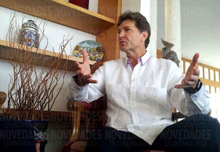 Enrique de la Madrid Cordero ofreció una entrevista exclusiva para Novedades Quintana Roo. (Israel Leal/SIPSE)