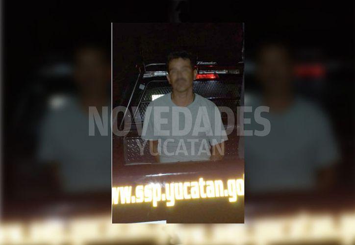 El hombre fue detenido por agentes de la SSP. (Novedades Yucatán)
