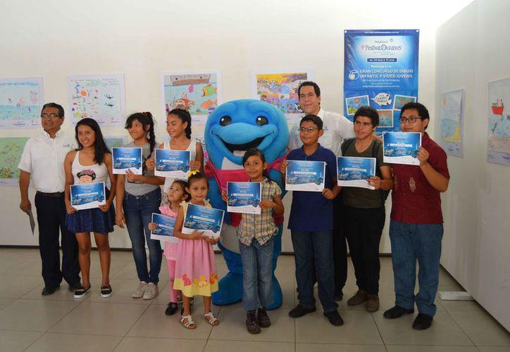 Entre los eventos se ha realizado un concurso de dibujo infantil. (Faride Cetina/SIPSE)