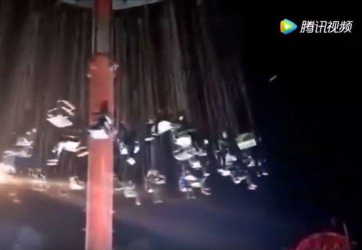Este hecho provocó que nueve personas resultaran lesionadas.  (Foto: Youtube)