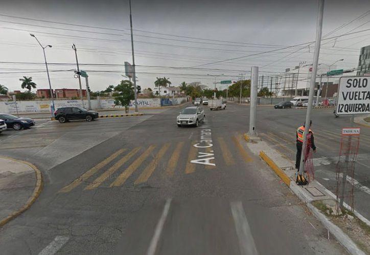 El cruce de Prolongación de Paseo Montejo y Avenida Cámara del Comercio es una de las zonas que más accidentes registran en Mérida (Foto: Google Maps)