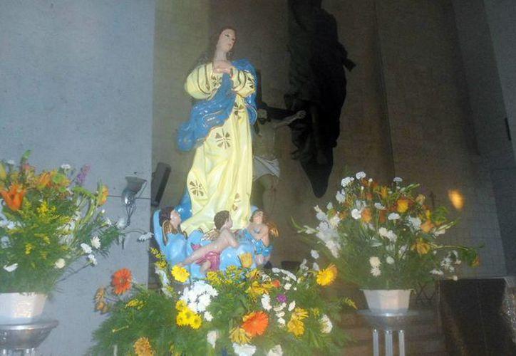 Mañana, los fieles porteños rezarán a la Purísima Concepción. (Manuel Pool/SIPSE)
