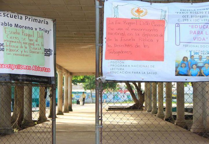 Sigue el paro de labores en numerosas escuelas en Yucatán. (Archivo SIPSE)