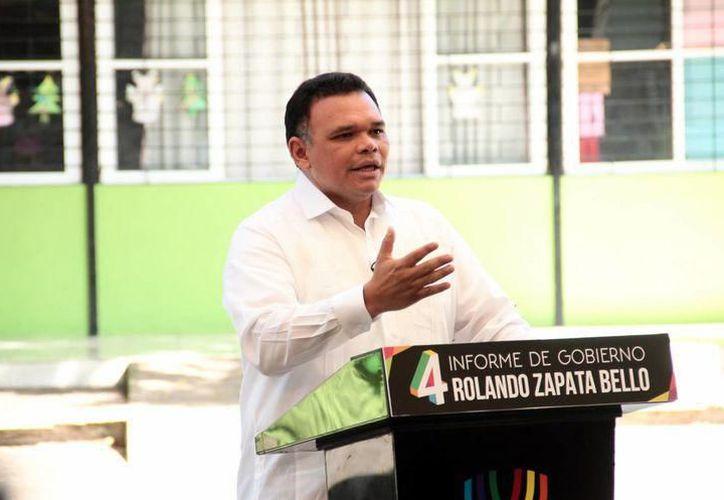 Alista el último informe del Gobernador de Yucatán, Rolando Zapata Bello. (Archivo/ SIPSE)