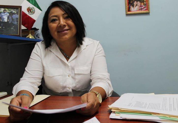 Manuela Cocom Bolio indicó que el evento se realizará de 8:00 am a 12:00 pm. (SIPSE)
