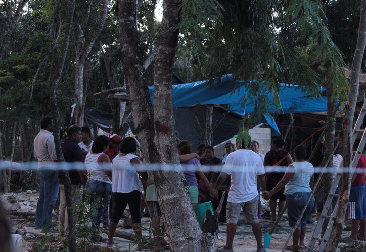 Las rencillas entre los ocupantes de los predios invadidos continúa y se acrecienta. (Foto: Sara Cauich/SIPSE)