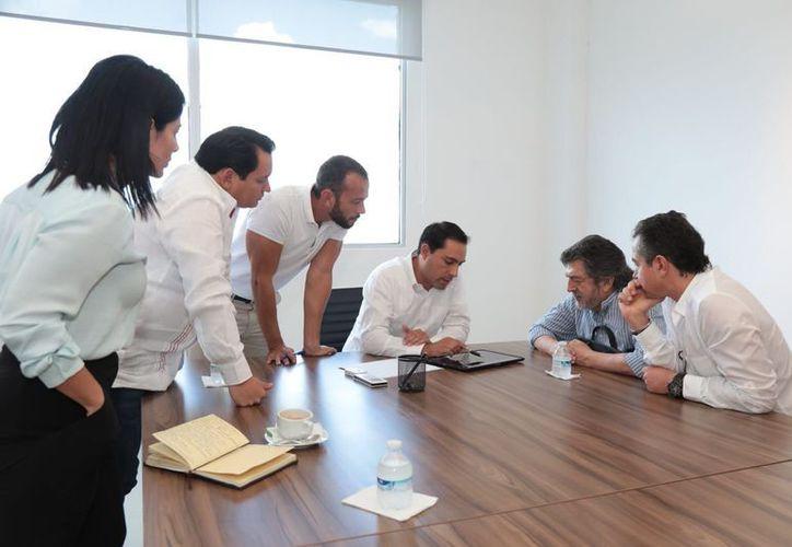 Mauricio Vila sostuvo un encuentro con Rogelio Jiménez Pons. (Milenio Novedades)