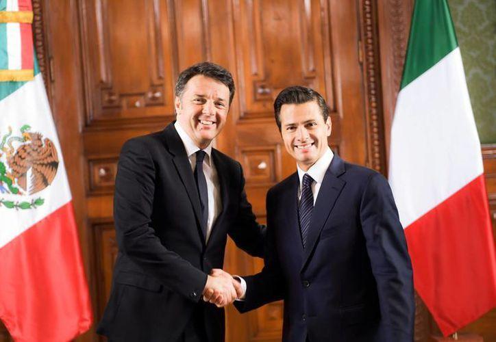 Peña Nieto agradece disposición de Italia para colaborar en materia de seguridad y energía. (Presidencia)