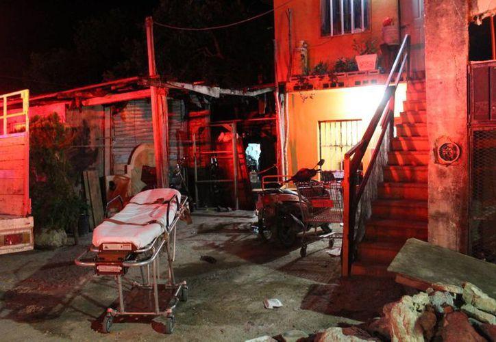 Uno de los lesionados por el fuego, se reporta como grave. (Foto: Redacción)
