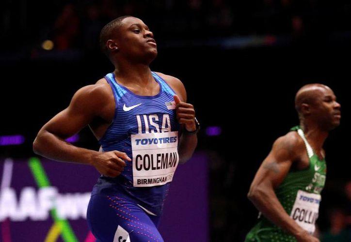 Coleman era el claro favorito y nadie fue capaz de desmentirlo sobre la pista. (Reuters)