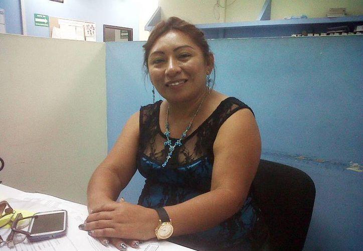 Manuela de Jesús Cauich Ek, alcaldesa de Mocochá, todavía no sabe qué hará para pagar aguinaldos del Ayuntamiento que preside. (Milenio Novedades)