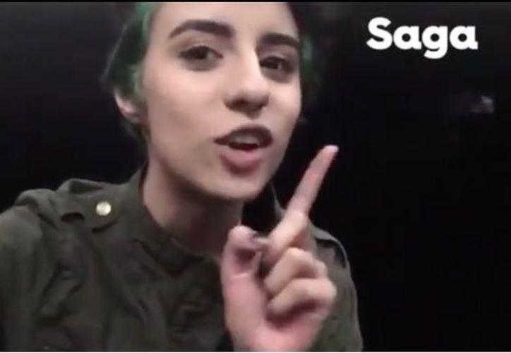 La polémica chica trabajará en Saga. (Captura de pantalla)