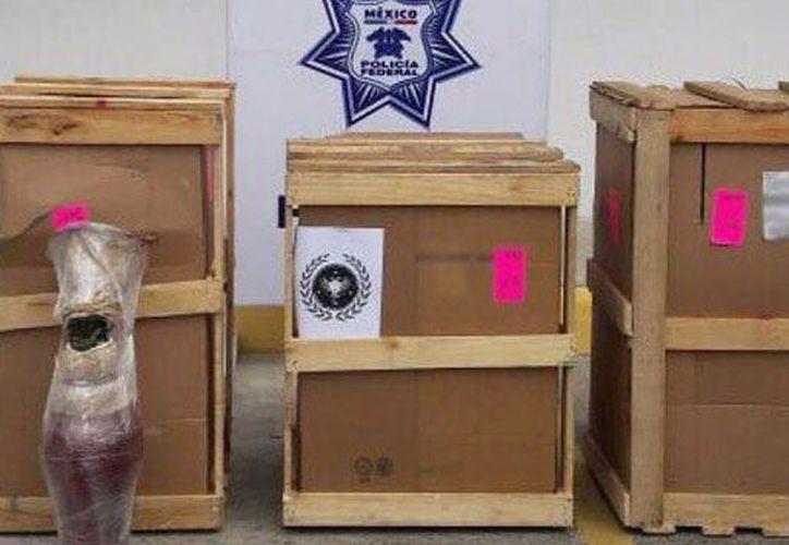 Los tres paquetes con la droga, eran procedentes de Tlaquepaque, Jalisco. (Foto: Agencias)