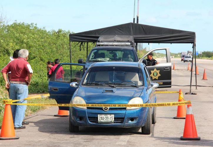 Un hombre falleció mientras era atendido en un puesto de revisión de la SSP. (Aldo Pallota/SIPSE)