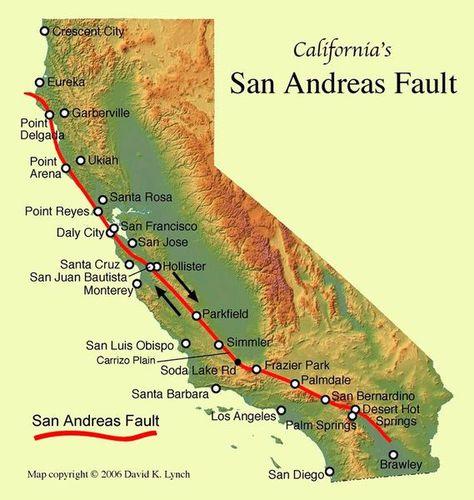 Preocupa un deslizamiento cerca de las fallas geológicas más peligrosas de California