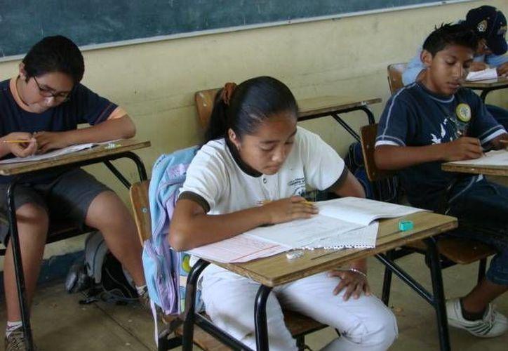 Los 'privilegiados' participarán en la fase nacional de la Olimpiada del Conocimiento. (Manuel Salazar/SIPSE)