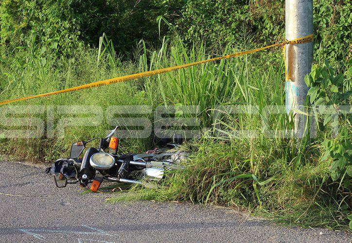 En imagen, un accidente se registró en la carretera Mérida-Progreso dejando como saldo un fallecido. (Martín González/SIPSE)