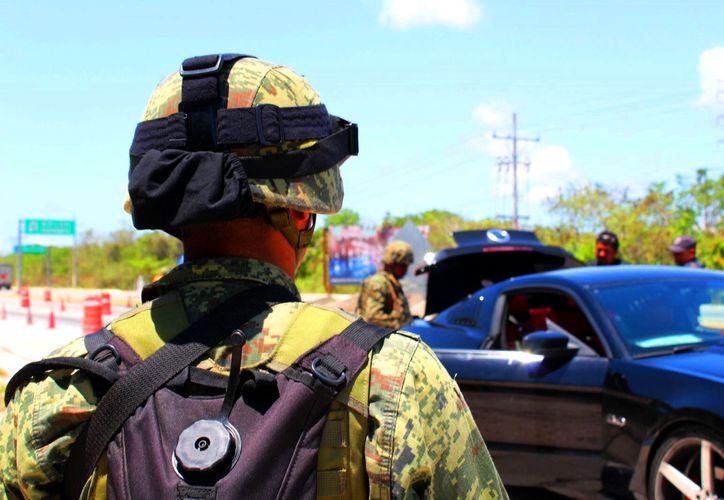 Elementos de Protección al Ambiente realizaron un operativo para capturar a los camioneros que transportan desechos para tirarlos en áreas verdes de Playa del Carmen. (Foto: Daniel Pacheco/SIPSE)