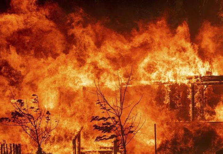 El fuego superó las 113 mil 800 hectáreas devastadas en los condados de Ventura y Santa Bárbara. (AP)