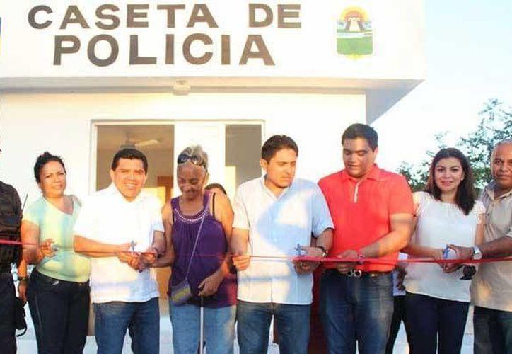 La colonia Xulká ya cuenta con una caseta de policía. (Cortesía)