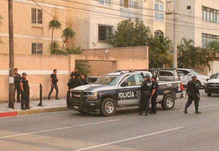 Varios agentes llegaron a la zona donde el joven se refugió. (Redacción/SIPSE)