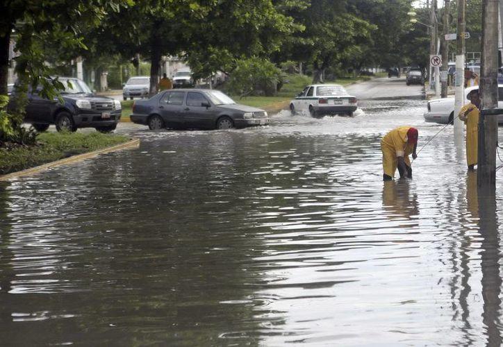Hay permanente vigilancia en zonas que tradicionalmente presentan problemas por inundaciones. (Redacción/SIPSE)