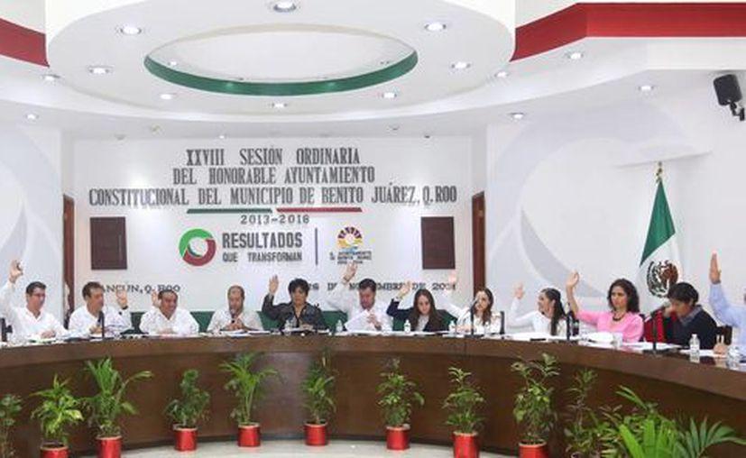 Se realizó ayer la Vigésima Octava Sesión Ordinaria de Cabildo. (Sergio Orozco/SIPSE)